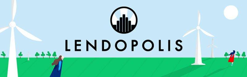 Logo Lendopolis et éoliennes