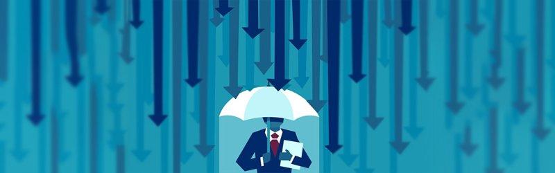 Parapluie protégeant l'investisseur particulier et son portefeuille contre la récession