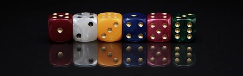 Cube d'un jeu de lancer de dés